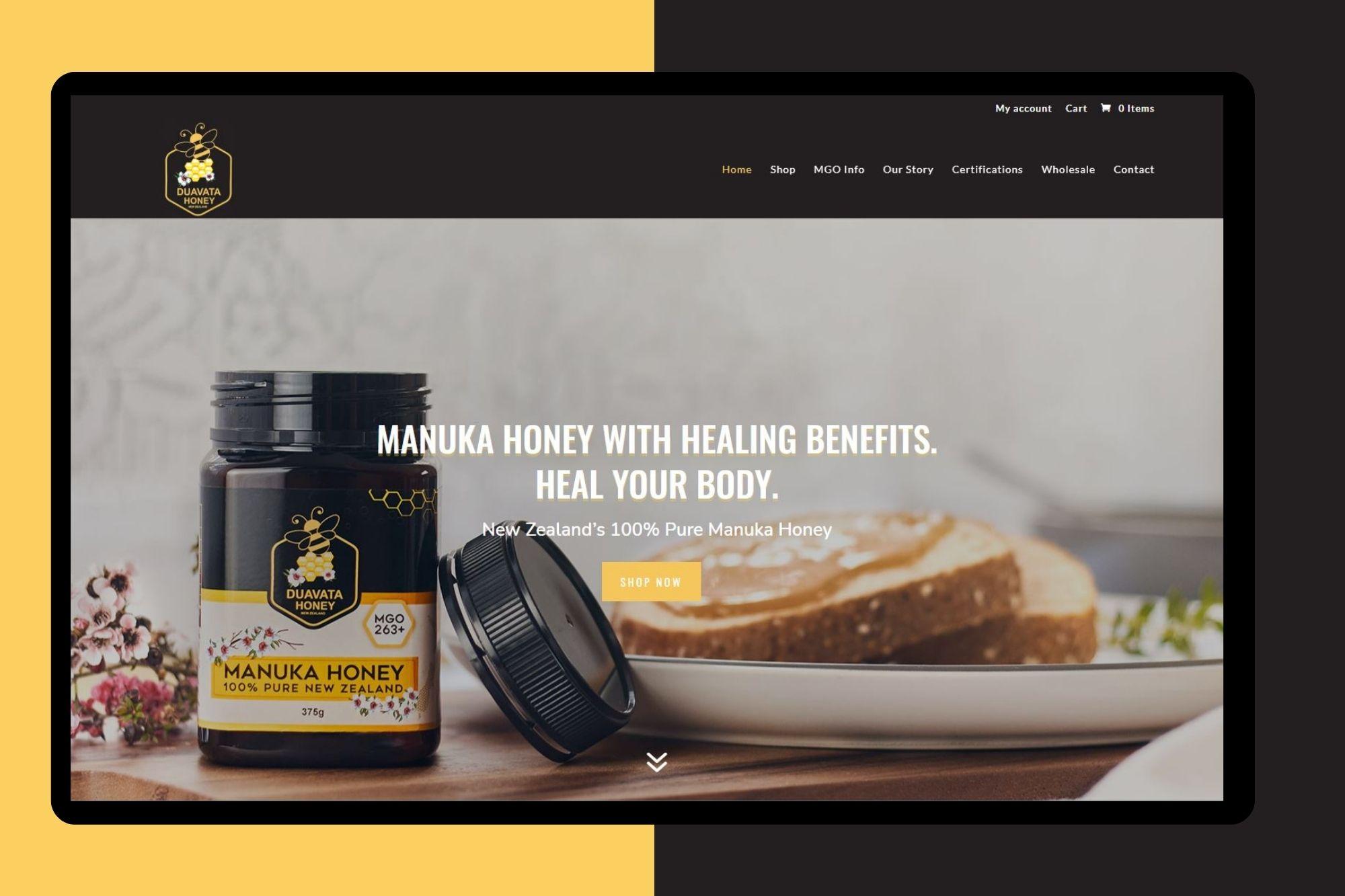 duavata honey website development cloud media
