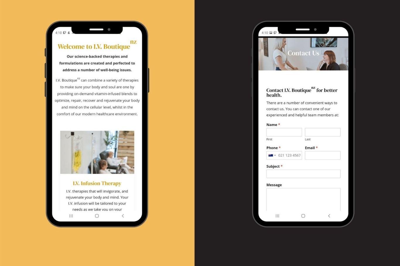 iv boutique mobile optimised website development cloud media latest