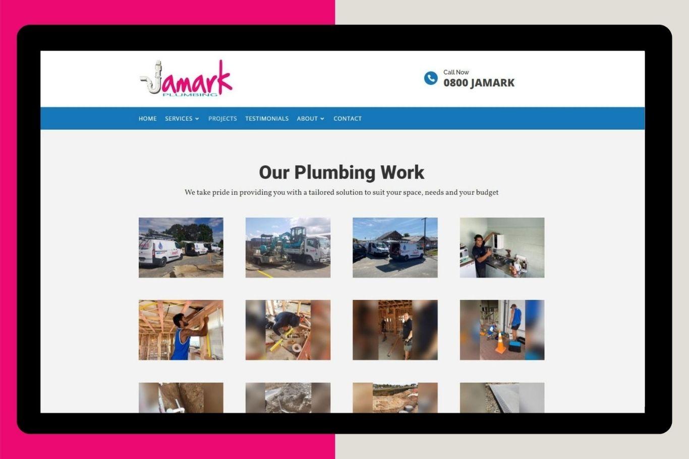 jamark plumbing website development cloud media